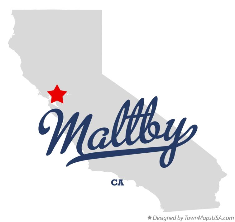 Map of Maltby California CA
