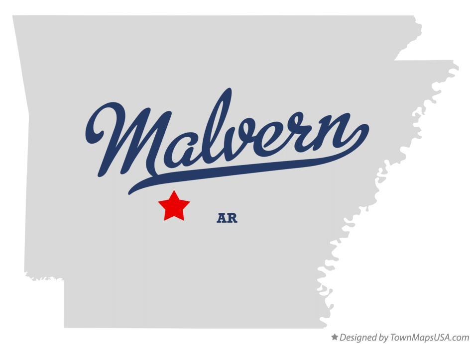 Map Of Malvern Ar Arkansas