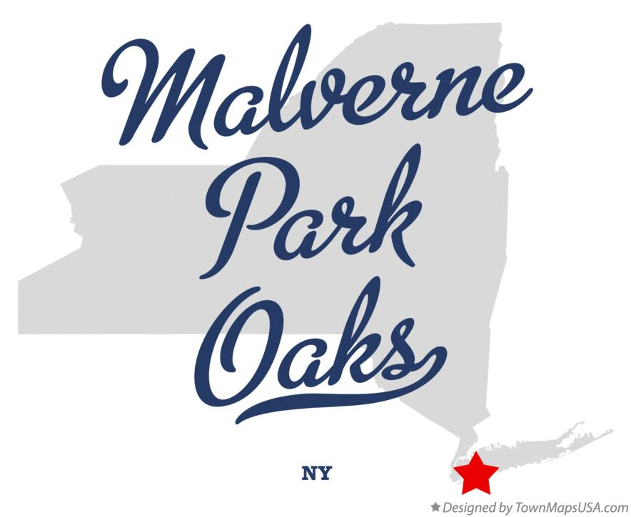 Map of Malverne Park Oaks New York NY
