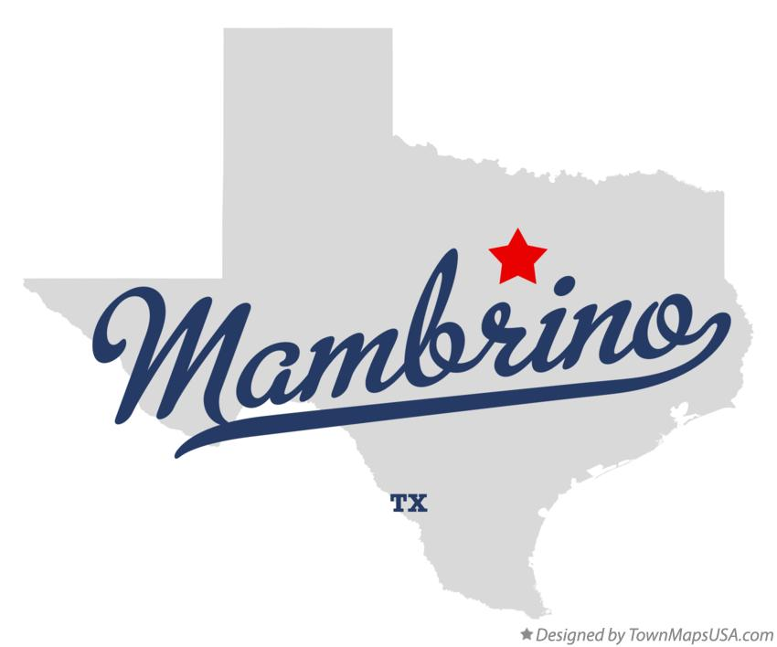 Map of Mambrino Texas TX