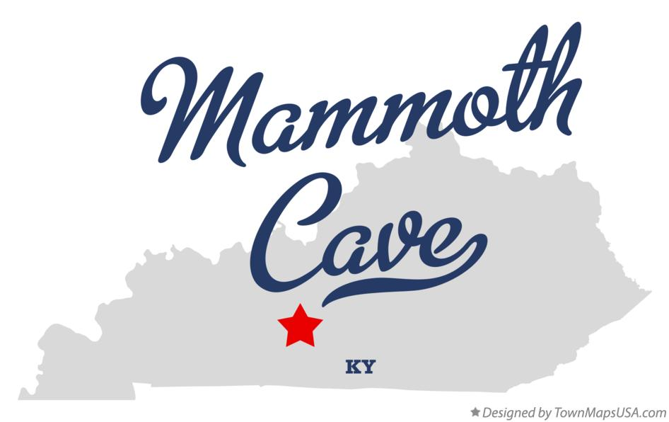 Map of Mammoth Cave Kentucky KY