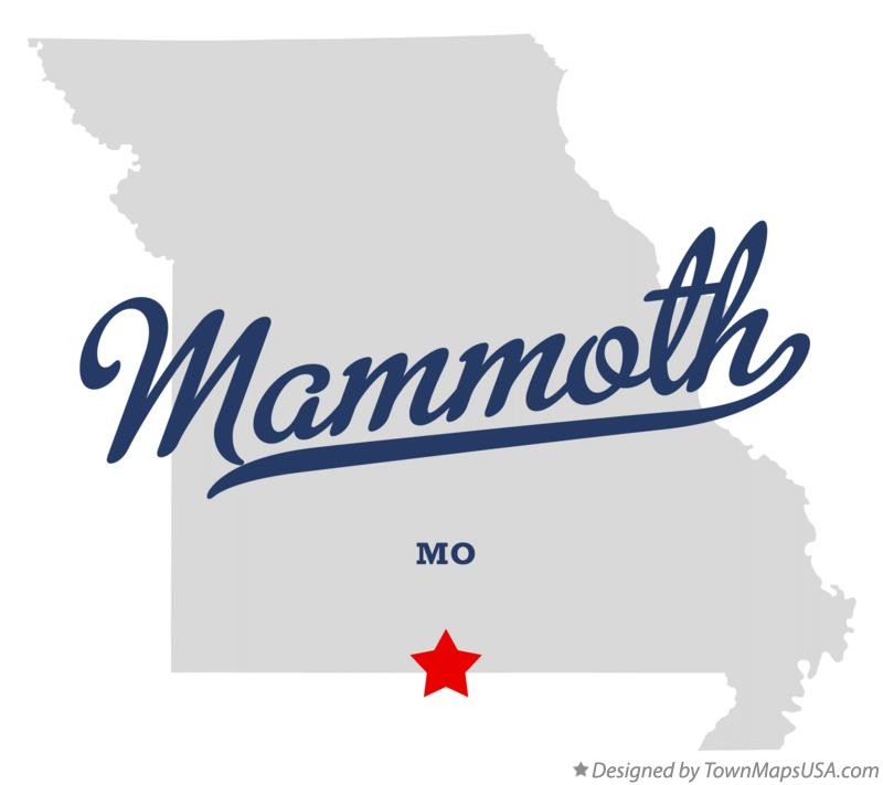 Map of Mammoth Missouri MO