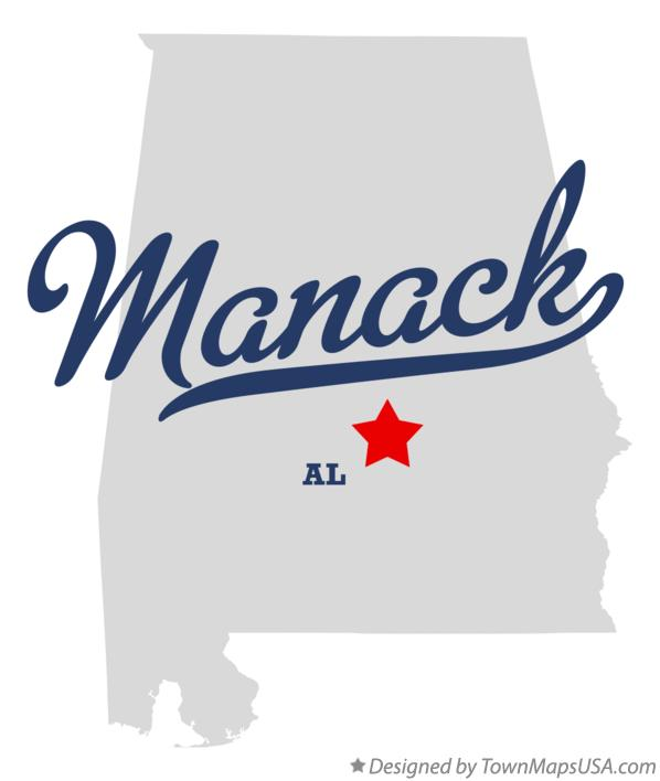 Map of Manack Alabama AL