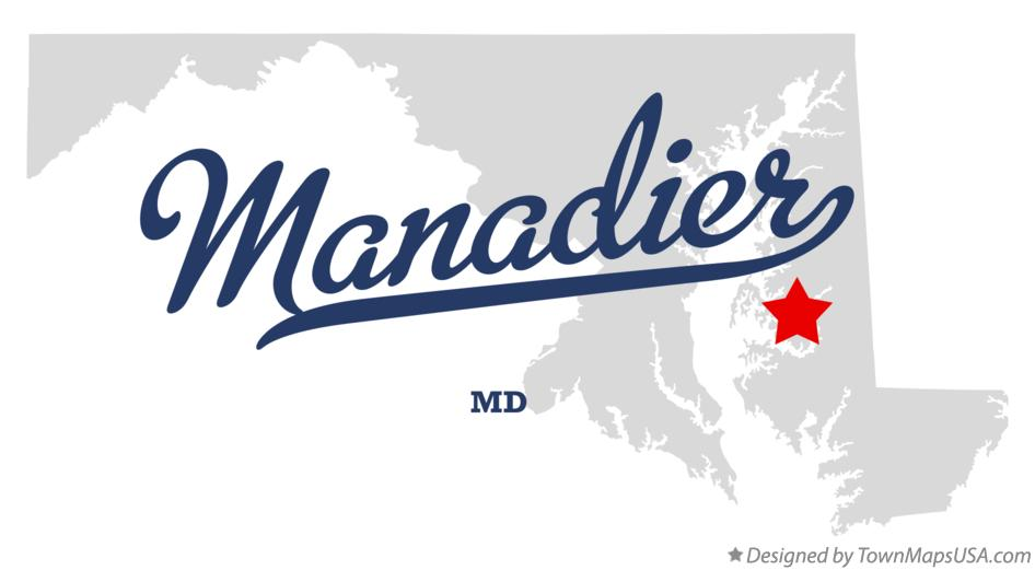 Map of Manadier Maryland MD
