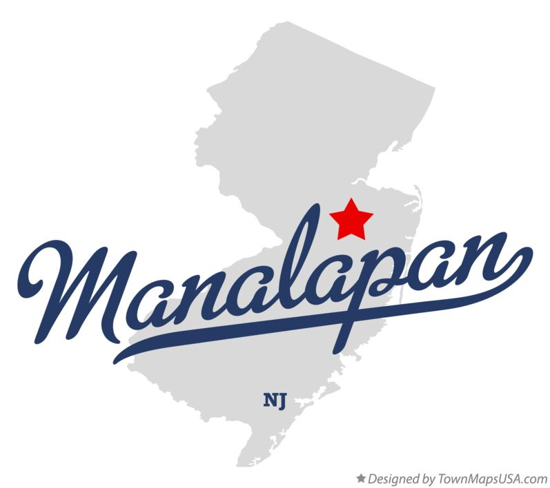 Map of Manalapan New Jersey NJ