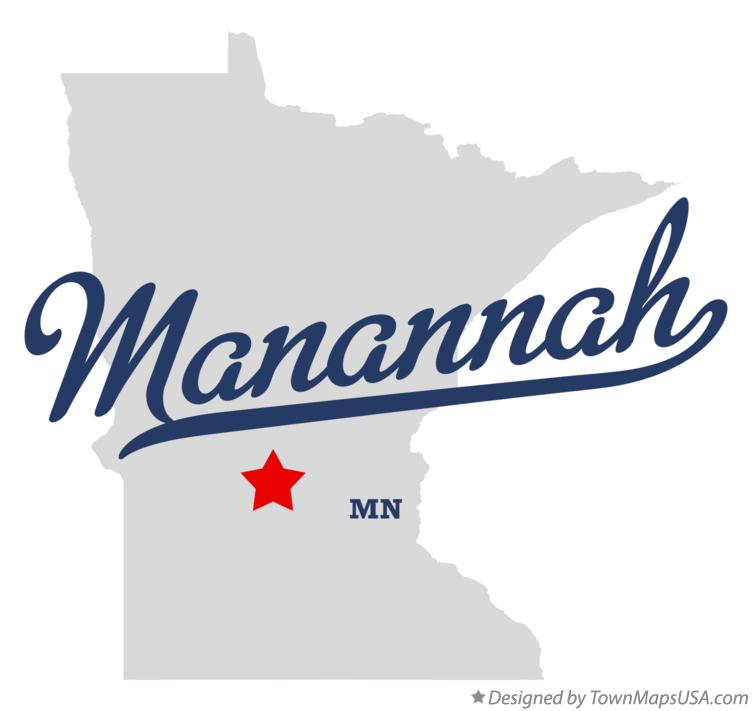 Map of Manannah Minnesota MN