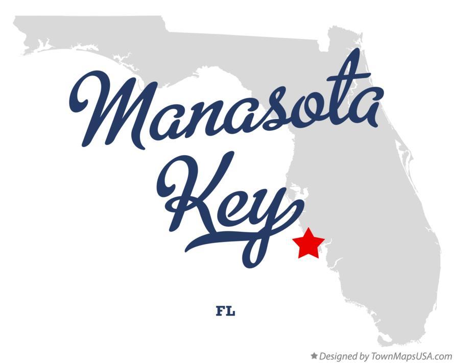 Map Of Manasota Key Fl Florida