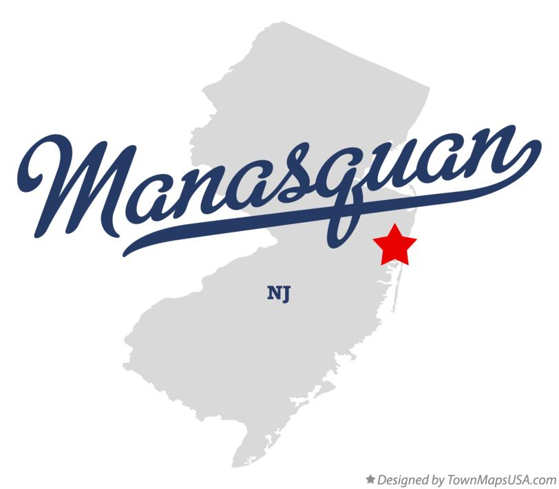 Map of Manasquan New Jersey NJ