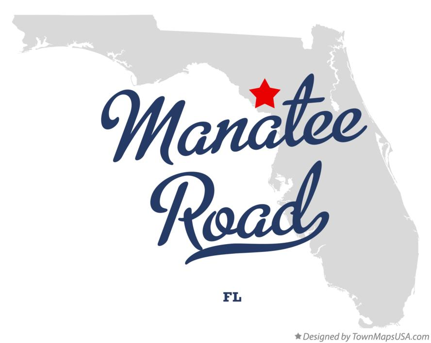 Map of Manatee Road Florida FL