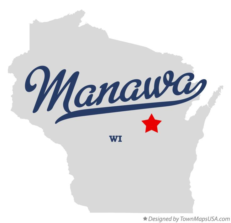 Map of Manawa Wisconsin WI