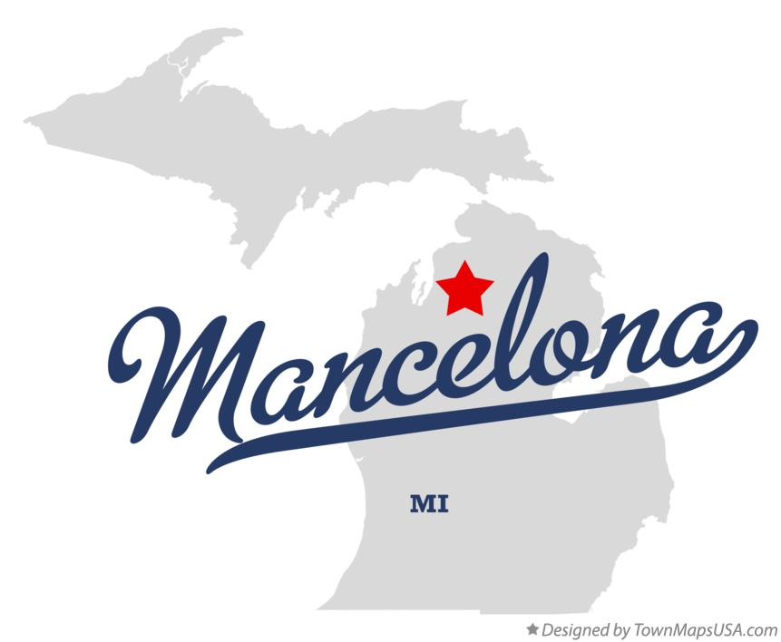 Map of Mancelona Michigan MI
