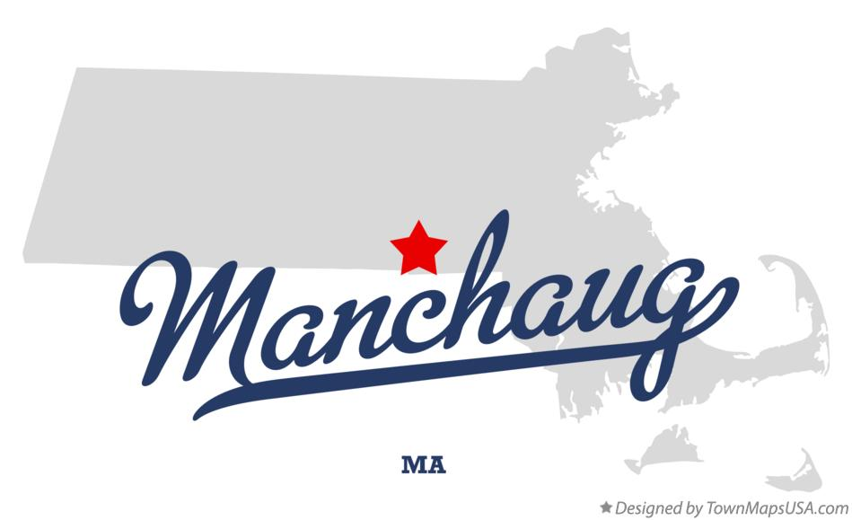 Map of Manchaug Massachusetts MA