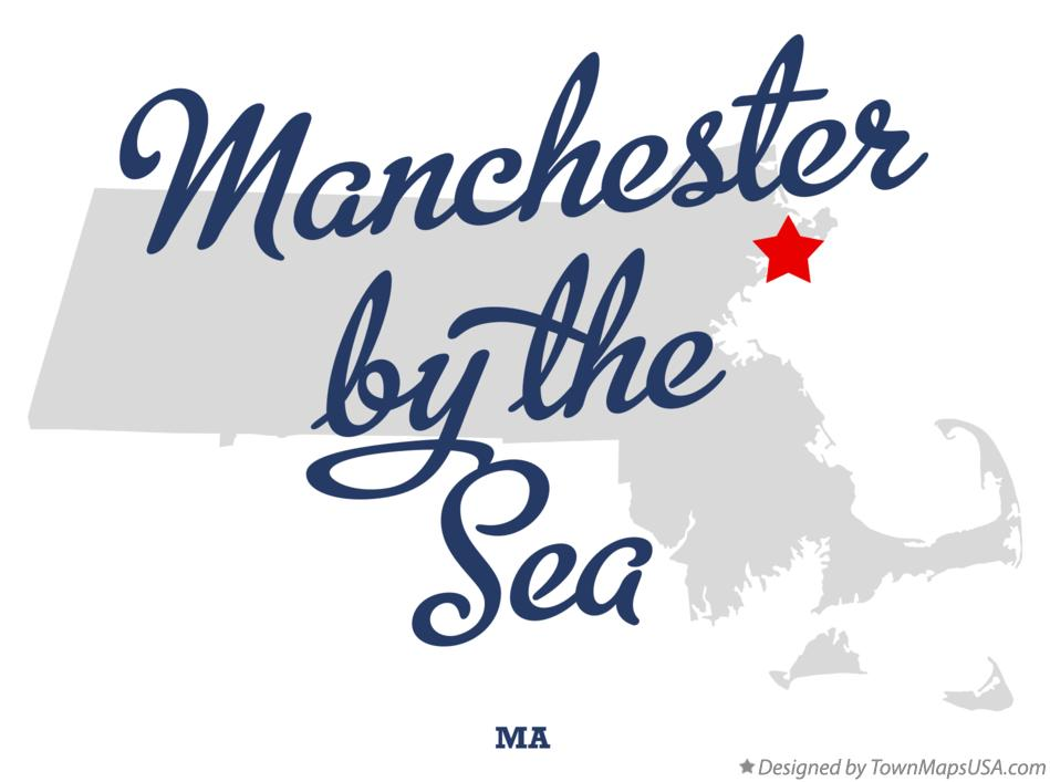 Map of Manchester-by-the-Sea Massachusetts MA