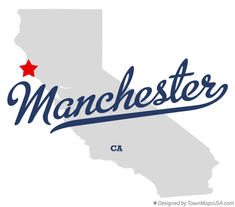Map of Manchester California CA