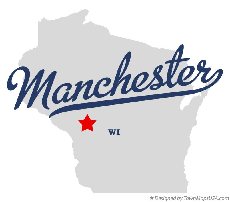 Map of Manchester Wisconsin WI