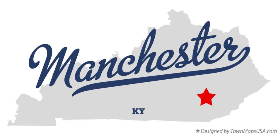 Map of Manchester Kentucky KY