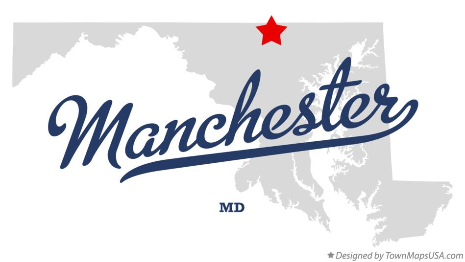 Map of Manchester Maryland MD