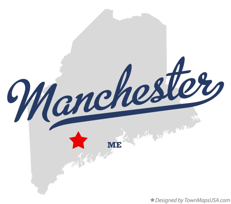 Map Of Manchester Me Maine