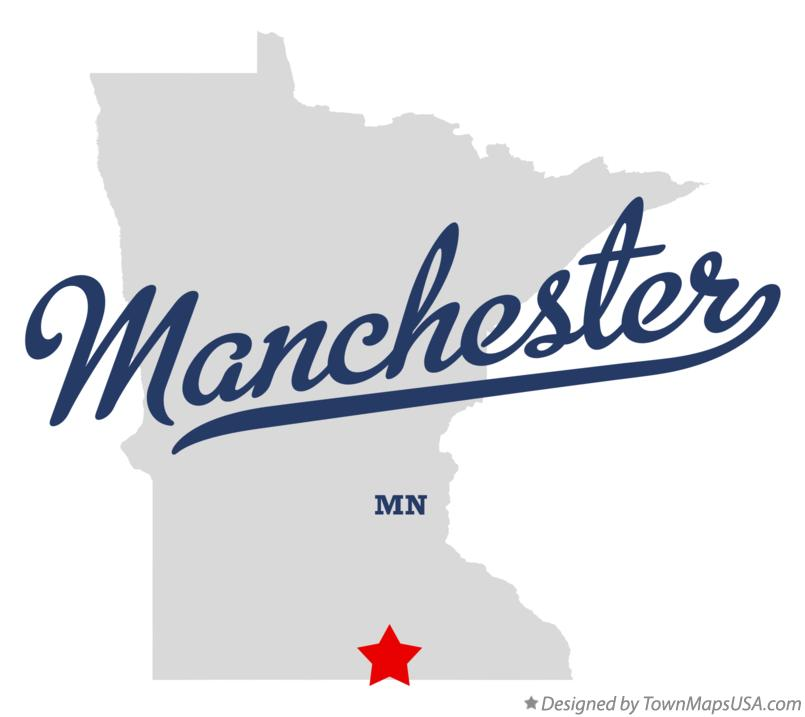 Map of Manchester Minnesota MN