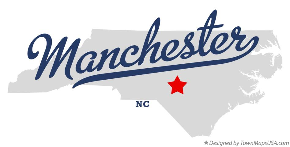 Map of Manchester North Carolina NC