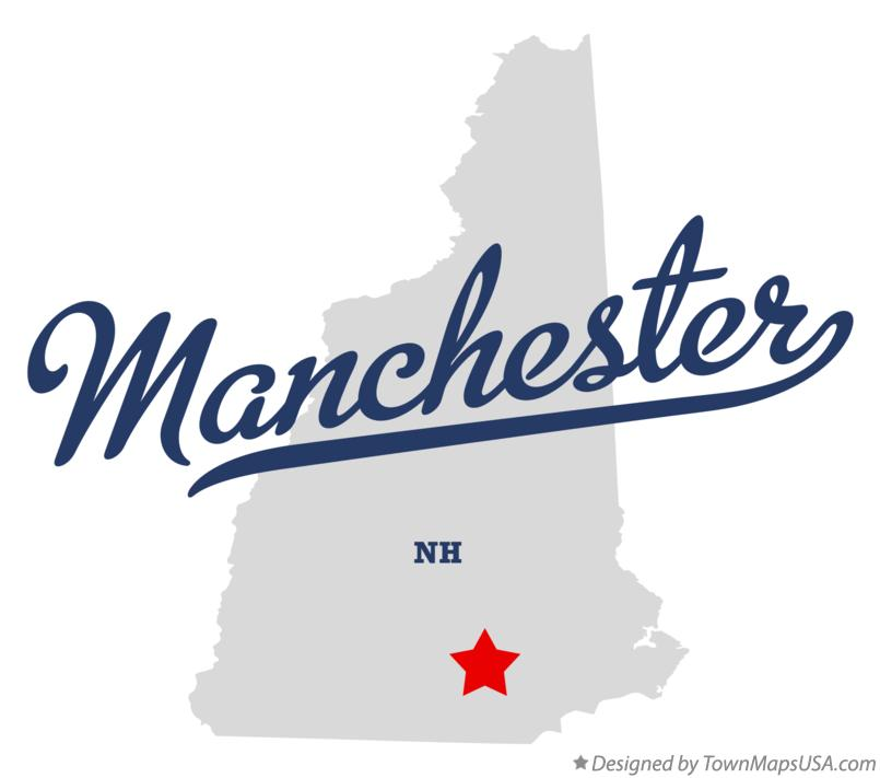 Map of Manchester New Hampshire NH
