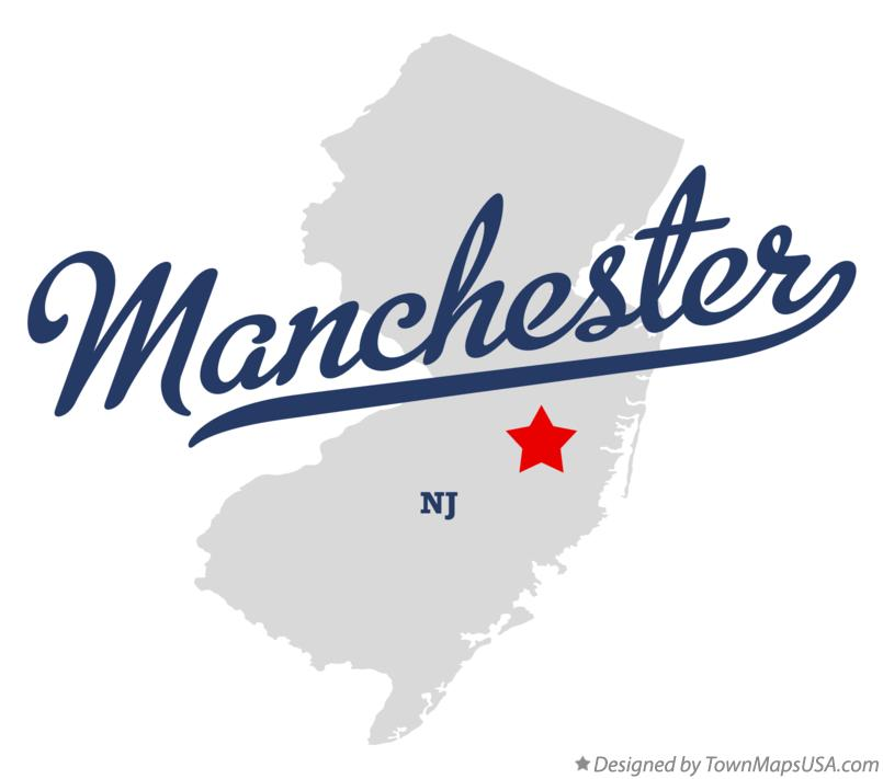 Map of Manchester New Jersey NJ