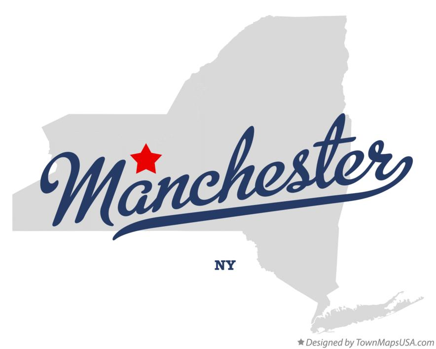 Map Of Manchester NY New York