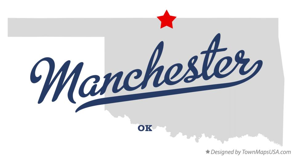 Map of Manchester Oklahoma OK