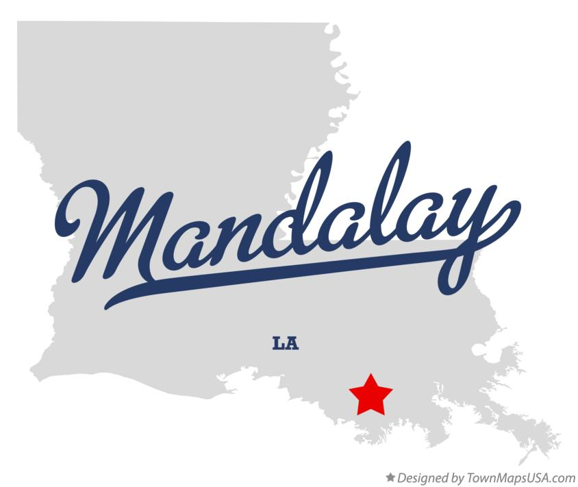 Map of Mandalay Louisiana LA