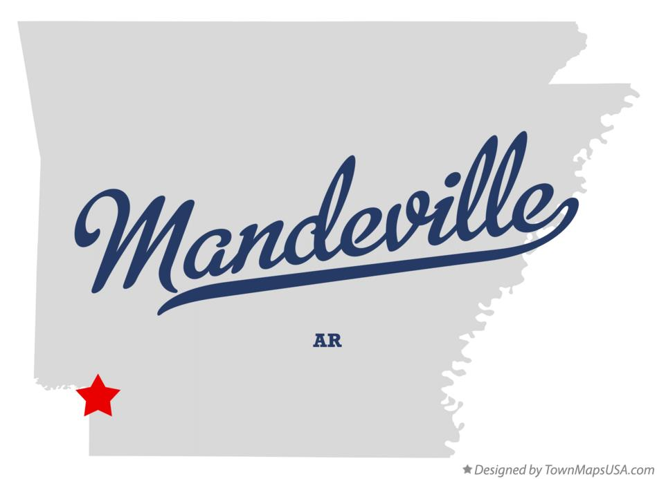 Map of Mandeville Arkansas AR