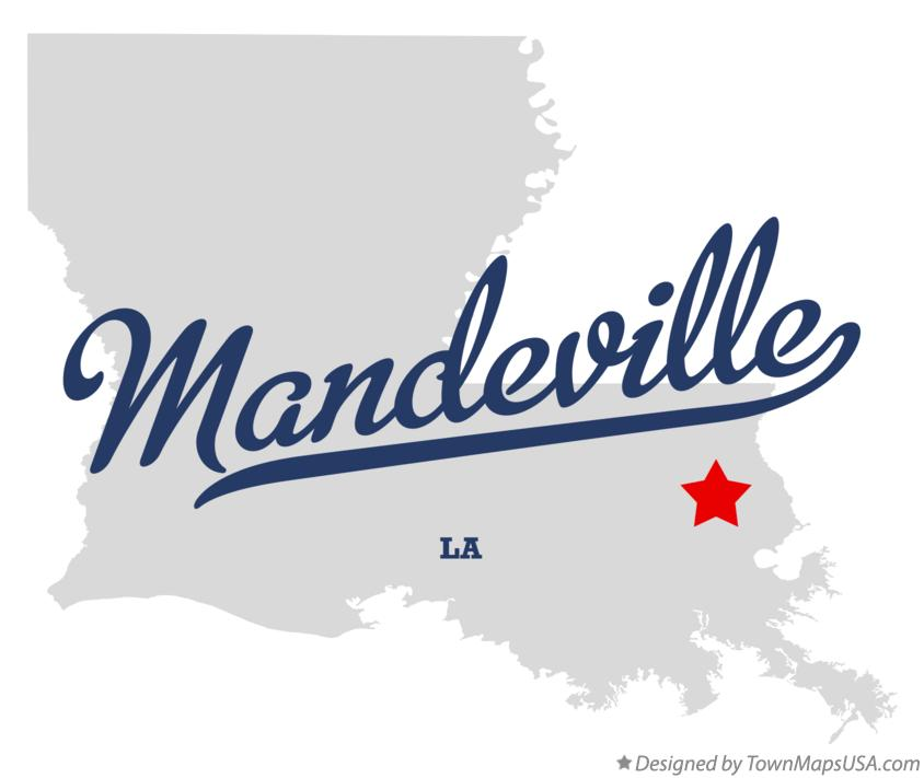 Map of Mandeville Louisiana LA