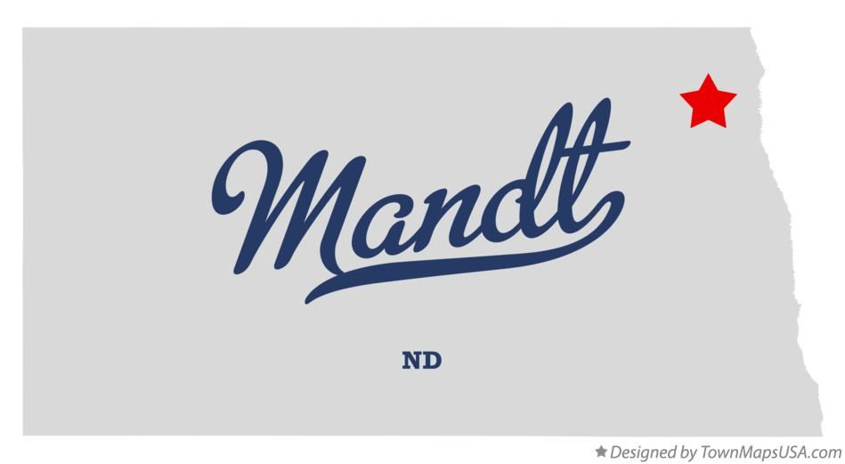Map of Mandt North Dakota ND