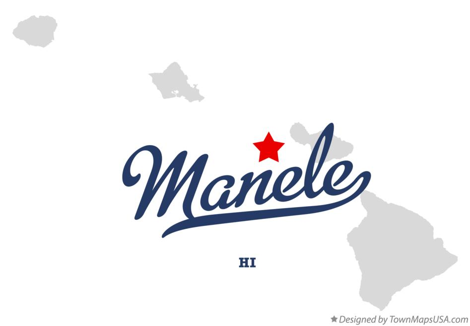 Map of Manele Hawaii HI