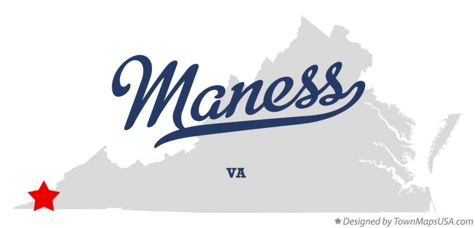 Map of Maness Virginia VA