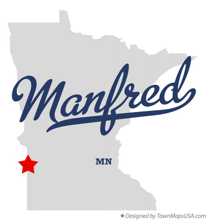 Map of Manfred Minnesota MN
