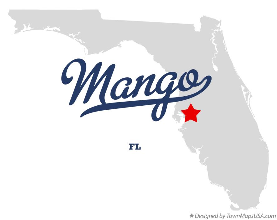Map of Mango Florida FL