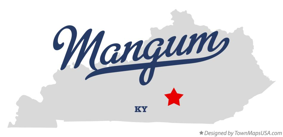 Map of Mangum Kentucky KY
