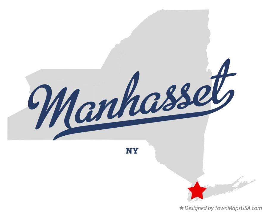 Map of Manhasset New York NY