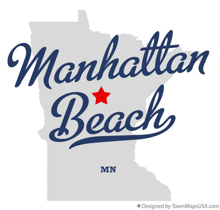 Map of Manhattan Beach Minnesota MN