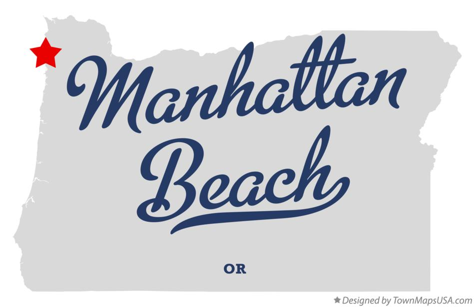 Map of Manhattan Beach Oregon OR