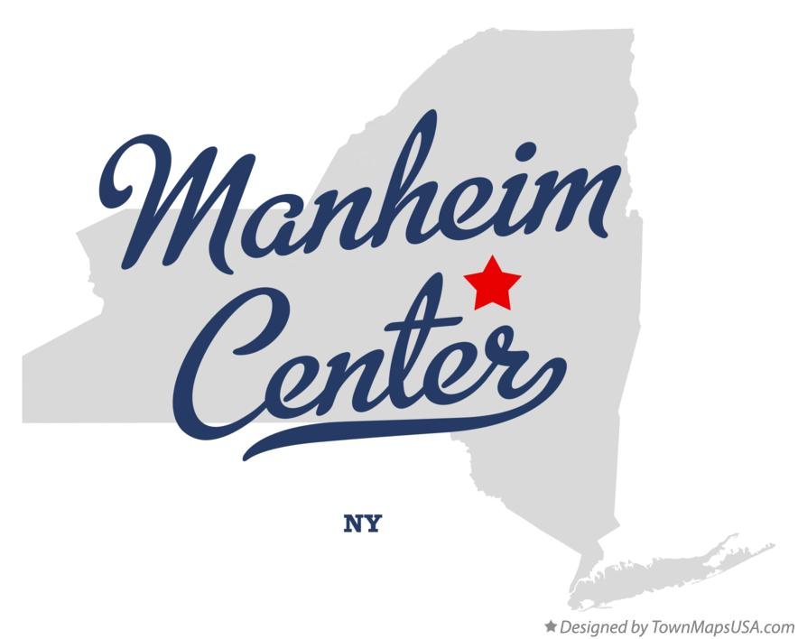 Map of Manheim Center New York NY