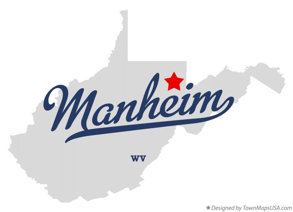 Map of Manheim West Virginia WV