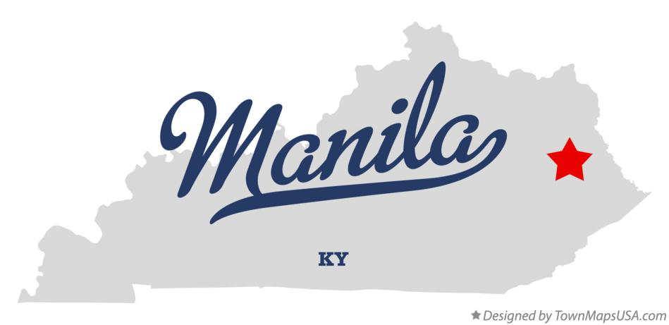 Map of Manila Kentucky KY