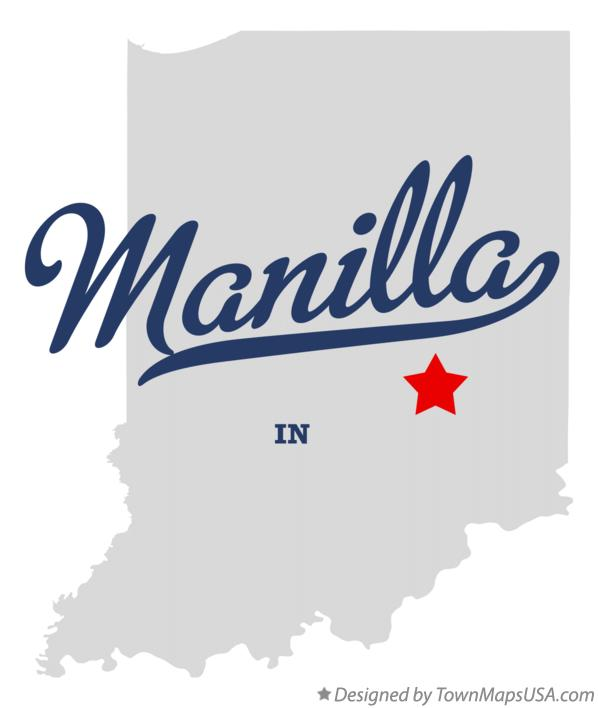 Map of Manilla Indiana IN