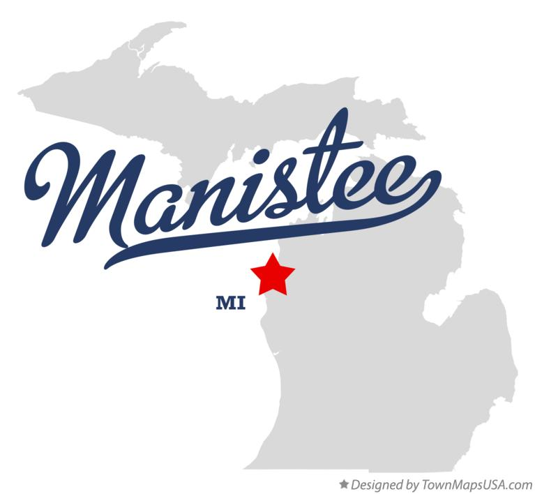 Map of Manistee Michigan MI