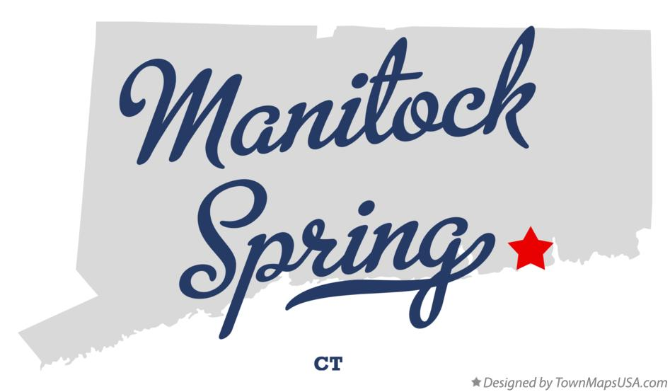 Map of Manitock Spring Connecticut CT