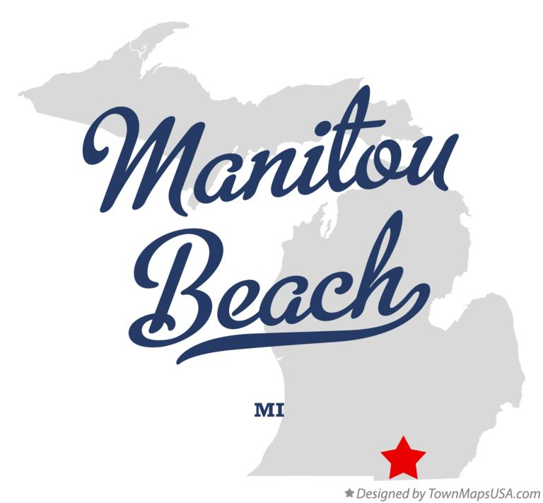 Map of Manitou Beach Michigan MI