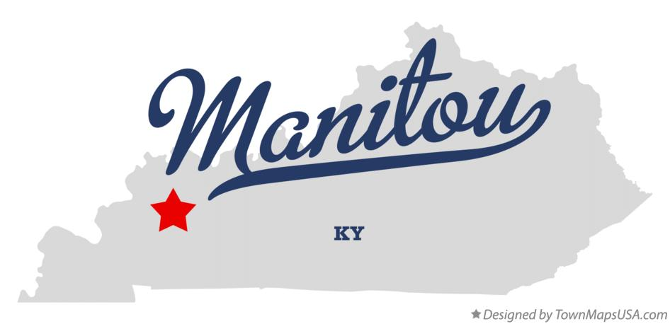 Map of Manitou Kentucky KY