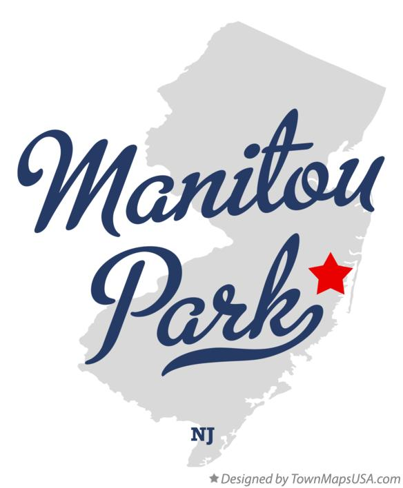 Map of Manitou Park New Jersey NJ