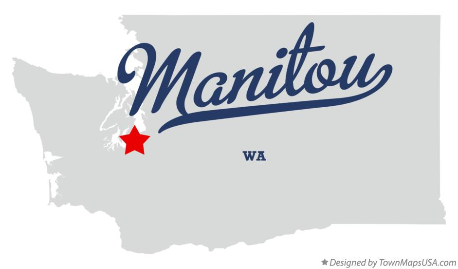 Map of Manitou Washington WA